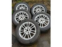 """5 x 19"""" Genuine Land Rover Alloy Wheels & Tyres 255/55 R19"""