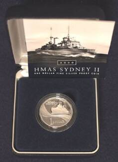 2000 HMAS SYDNEY II $1 Silver Proof Coin - Limited Edition. Wembley Cambridge Area Preview