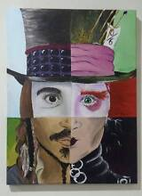 Original Johnny Depp Acrylic Painting-Artist Selling Armadale Armadale Area Preview