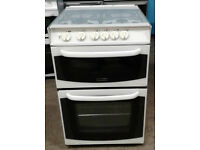 z144 white cannon 55cm gas cooker comes with warranty can be delivered or collected