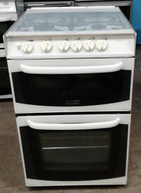 k144 white cannon 55cm gas cooker comes with warranty can be delivered or collected