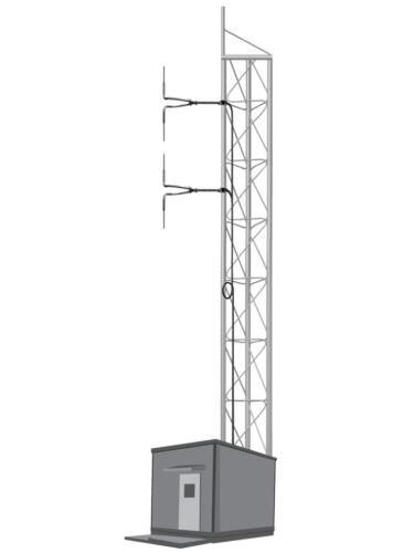 2 Bay Element FM Broadcast Antenna 87.5-108Mhz Circular Polarized 1000W 1kW