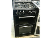 a729 black stoves 55cm gas hob double electric oven dual fuel cooker comes with warranty