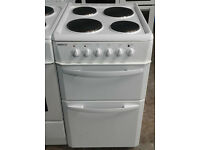 b695 white beko 50cm solid ring electric cooker comes with warranty can be delivered or collected