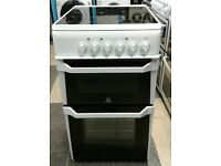 776 white indesit 50cm ceramic electric cooker with warranty can be delivered or collected
