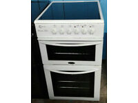 c419 white flavel 50cm ceramic hob electric cooker comes with warranty can be delivered or collected