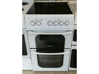 h303 white hotpoint 50cm ceramic hob electric cooker comes with warranty can be delivered