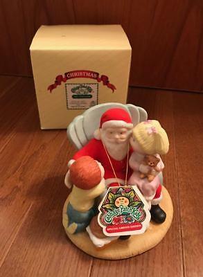 Cabbage Patch Kids Figurine CHRISTMAS WISHES w/ Santa 1984 NIB w/ Hang Tag Cabbage Patch Kids Christmas