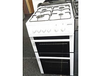 a032 white beko 50cm gas cooker comes with warranty can be delivered or collected