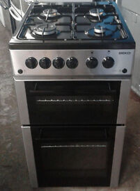 A162 stainless steel beko 50cm gas cooker comes with warranty can be delivered or collected