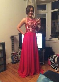 Beautiful red formal gown, size 8-10 £200