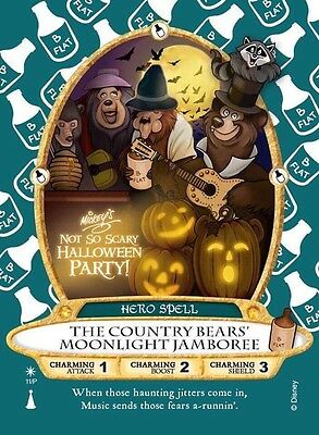 2017 Country Bear Disney Halloween Party Sorcerers Of The Magic Kingdom Card - Bear Halloween Party