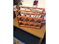 Rattan Wine Storage Rack.12 Bottle Storage