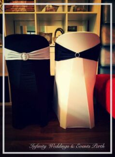 Lycra chair cover & Band - $1.95 for both! DECOR HIRE