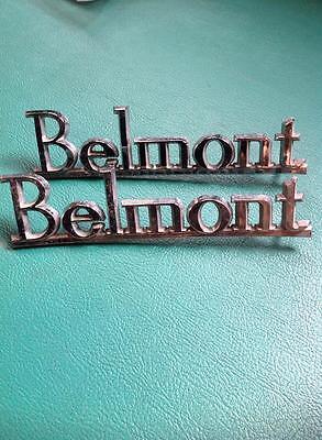 x2 HOLDEN Kingswood  Belmont HJ HQ Plymouth Side Emblem Badge GENUINE PARTS NOS
