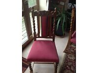 Solid Oak Chairs x6
