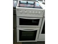 a060 white beko 50cm ceramic hob electric cooker comes with warranty can be delivered or collected