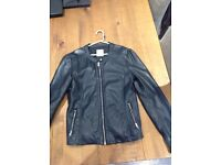 ####Soft Pull and Bear Faux Leather Jacket Size L####