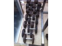 Sets of various dumbbells
