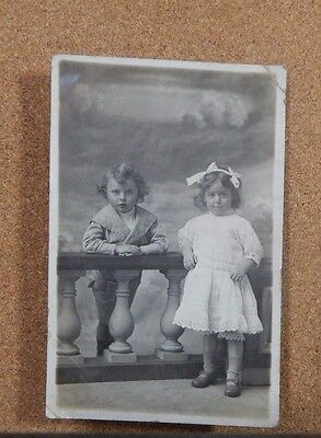 2 young edwardian Children RPPC Imperial Studios Nelson unposted  xc1