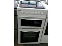d060 white beko 50cm electric cooker comes with warranty can be delivered or collected