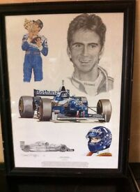 Damon Hill Tribute Print by Stuart MacIntyre