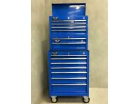 Blue 15 Drawer 3 Tier Tool Chest Box, inc top,middle,bottom like snap on / mac