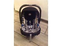 Zebra print BRITAX 0+ car seat & RAIN COVER