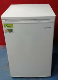 C653 white daewoo under counter fridge with freezer box new graded with manufacturers warranty
