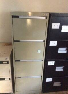 Cream and black filing Cabinet $80 EACH Carindale Brisbane South East Preview