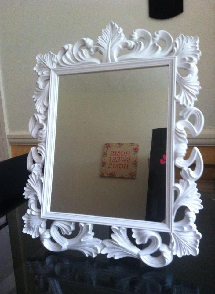 2 IN 1 VINTAGE ORANTE DRESSING TABLE WALL MIRROR BLACK WHITE
