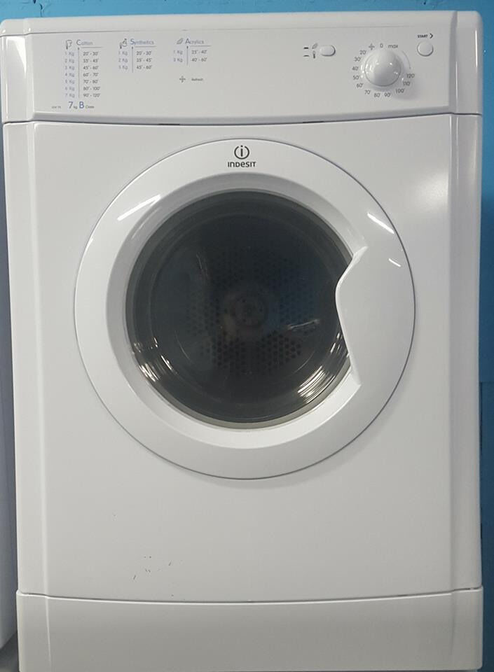 q361 white indesit 7kg b rated vented dryer comes with warranty can be delivered or collected