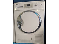 j252 white & chrome beko 9kg b rated condenser sensor dryer comes with warranty can be delivered