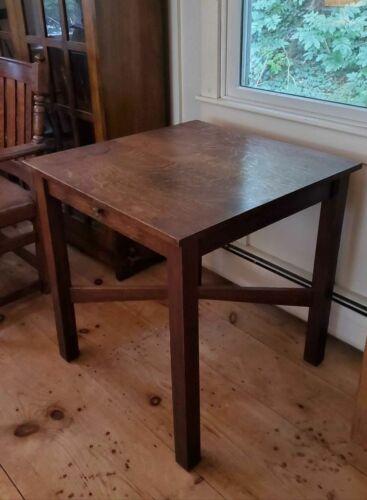 antique Arts & Crafts square mission oak table