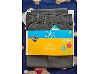 Boys grey school trousers age 7-8