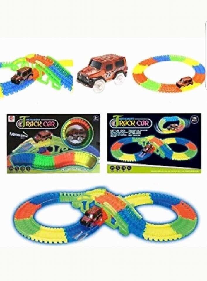 Glow in the dark magic tracks kids toys