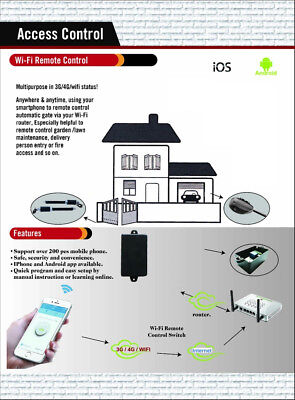 Iphone Android Samsung wifi internet remote control your garage door opener