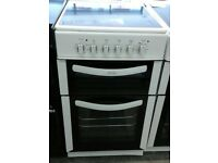 h310 white belling 50cm ceramic hob double oven electric cooker comes with warranty can be delivered