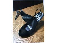 Lovely black shoes size 7 more like a 6 like new