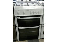 c664 white beko 60cm double oven gas cooker come with warranty can be delivered or collected