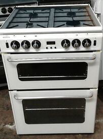 b438 white new world 60cm gas cooker comes with warranty can be delivered or collected