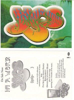 YES 2008 In a word die cut promotional sticker New Old Stock Flawless Condition