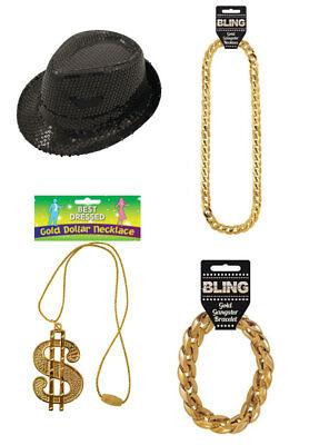 Rapper, GANGSTER POP STAR FANCY DRESS ACCESSORIES COSTUME Pimp Party Dress - Rapper Costume Accessories