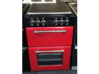 a141 red stoves 55cm double oven ceramic hob electric cooker comes with warranty can be delivered
