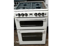 D438 white new world 60cm gas cooker comes with warranty can be delivered or collected