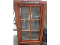 Wooden Window with 6 Double Glazed Glass Panels