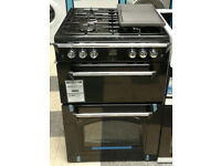 e078 NEW black leisure 60cm gas cooker comes with warranty can be delivered or collected