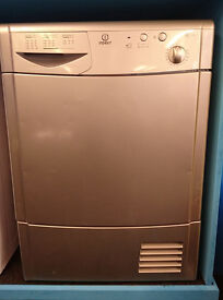 n353 silver indesit 7kg condenser dryer comes with warranty can be delivered or collected