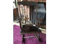 Antique COUNTRY Solid Wood High Spindle Back Traditional Rocking Chair NUMBER 2
