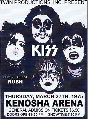 KISS IN CONCERT *2X3 FRIDGE MAGNET* POSTER ROCK N ROLL GROUP BAND GUITAR LIVE AD